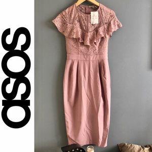 ASOS lace blush dress